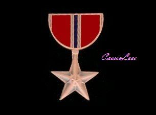 US Military Bronze Star Medal Lapel Pin / Hat Pin