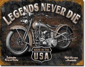 Never Die USA Vintage Motorcycle Bike Harley Parts Garage Shop Bar