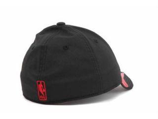 Adidas Chicago Bulls NBA Vibe Flex Fit Cap Hat Black Sz Small/Medium