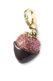 Juicy Couture Chocolate Covered Strawberry Charm For Bracelet Necklace