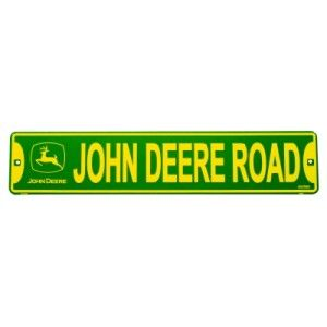 Tin Sign John Deere Road Tractor Farm Sign