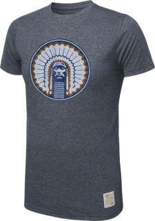 Illinois Fighting Illini Navy Chief Logo Tri Blend T Shirt