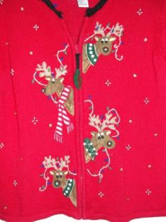 Gone Wild Ugly Christmas Sweater Contest Mens Womens s w Bell