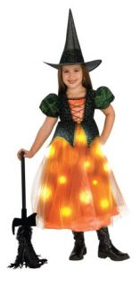 Child Twinkle Witch Halloween Costume with Fiber Optic Lights Size