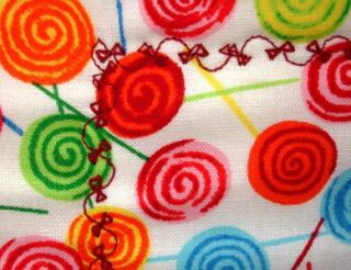 Lollipop RR Teddy Bears Childrens Quilt 33 5x43 Cute