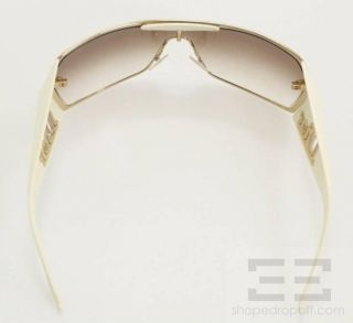 Christian Dior Gaucho 2 Cream Gold Shield Sunglasses