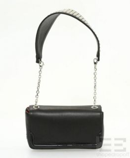 Christian Louboutin Black Leather Silver Studded Artemis Shoulder Bag