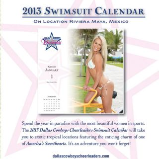 cowboys cheerleaders 2013 box calendar officially licensed cowboys