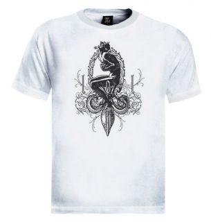Fleur de Lis T Shirt Devil Lucifer Crown Thorns Satan
