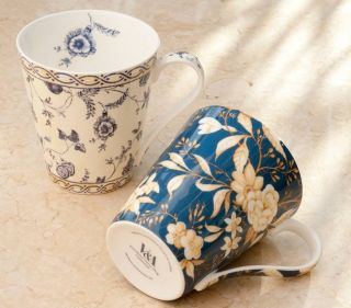 Kilburn Black Fine Bone China Mug in Gift Box Victoria Albert