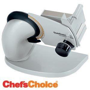 Chefs Choice Electric Slicer w Bonus Blade Sharpener