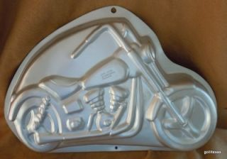 Motorcycle Cake Mold Pan Wilton 1999 16.5 Harley