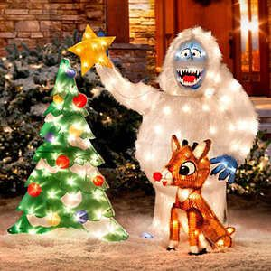 Lighted Rudolph Bumble Outdoor Christmas Yard Decor
