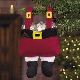 12 PC Santa Pants Christmas Gift Bags Holiday Party Favors
