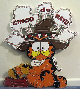 Garfield Fat Cat Cinco De Mayo Holiday not Christmas Yard Art