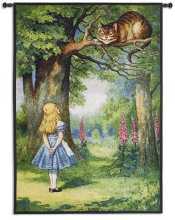 Alice in Wonderland Cheshire Cat Tapestry Wall Hanging