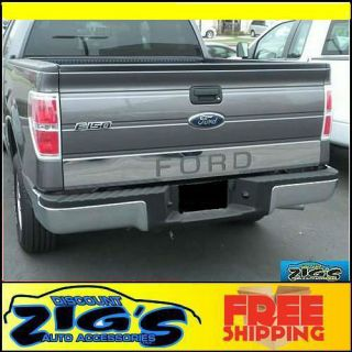 FORD LOGO Stainless Steel Chrome Tailgate Trim for 2004 2012 F150