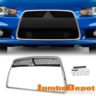 Chrome Front Bumper Fender Grille Grill 1P Hot For Mitsubishi 2008