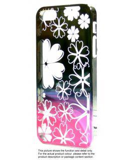 Chrome Fancy Rainbow Flower Aluminum Plate Plastic Cover Case for