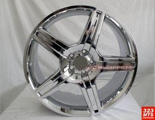19 Rims Mercedes Benz s C E Wheels Chrome Rims 5 Lug