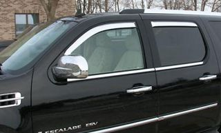 2007 10 Cadillac Escalade Ext ESV Chrome Window Visors