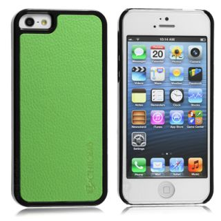 Chromo Inc. SnapOn Case for Apple iPhone 5 Leather Back Green Shell