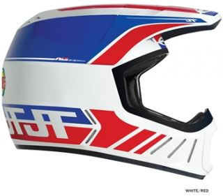 JT Racing ALS2 Full Face Helmet   White/Red 2012  Achetez en ligne