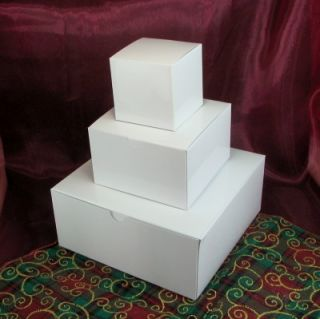 Christmas White Gift Box Tower Lot of 5 Towers Large 3 Box