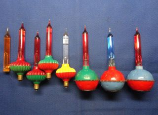 Vintage WWII Christmas Tree Bubble Lights 3 Cupcake Stars 4 from 1945