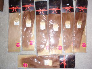 HUGE LOT 7 packs CHOCOLATE 100% HUMAN HAIR WEAVE EXTENSION BRAID