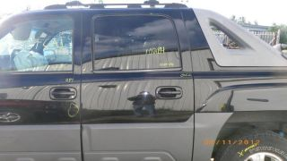 Left Rear Door 02 Chevrolet Avalanche 1500 Blk 8555