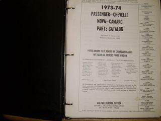 1973 1974 Chevrolet Camaro Nova Chevelle More Parts Book Orig Catalog