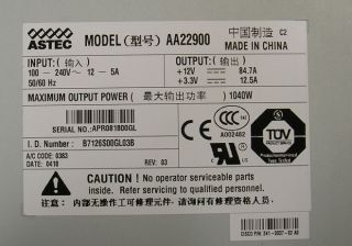 Cisco 341 0037 AA22900 1040W PWR C45 1000AC Switch Power Supply