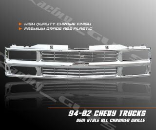 1994 95 96 97 98 99 00 Chevy Blazer Tahoe Chrome Grille Grill Pick Up