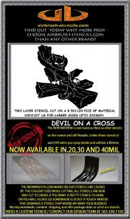 CROSS airbrush stencil template motorcycle chopp paint ~ NEW DESIGN