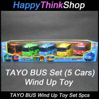 Bus Tayo Bus Wind Up Toy C Set 5 Cars Tayo Rogi Gani Cito Rani