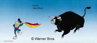 Chuck Jones Warner Bros Animation Art Cel Sericel Bulli For Bugs Bunny