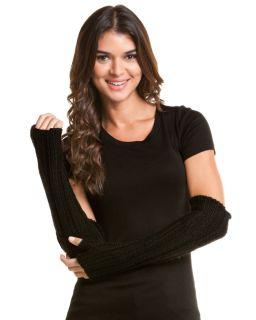 portolano women s black chunky knit arm warmer $ 150
