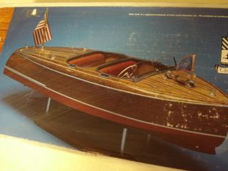 DUMAS 1940 CHRIS CRAFT BARREL BACK WOODEN MODEL BOAT KIT * partially