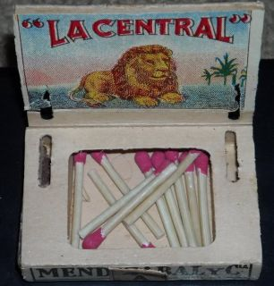 Antique Foto Regis La Central Mexico Cigar Box Matchbox