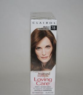 CLAIROL Loving Care Natural Instincts Medium Golden Brown 78 Lot hair