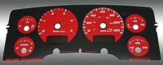 1500 2500 Dodge RAM Gas Daytona Edition Gauge Face