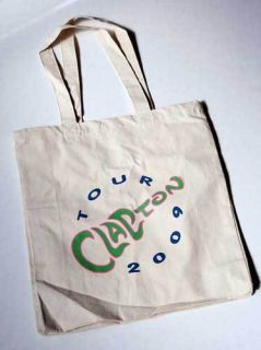 Eric Clapton 2009 Tour Canvas Tote Bag Shopping Bag