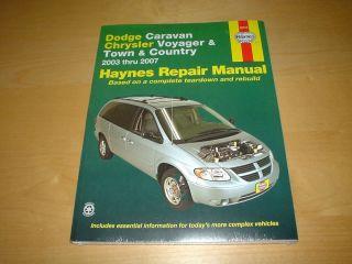 Haynes CHRYSLER GRAND VOYAGER 03 07 Owners Repair Manual Service
