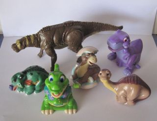 Lot of 6 Dinosaurs Figurines Action Figures Land Before Time
