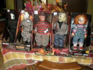 Animated Halloween Horror Movie Props Chucky Jason Freddy Scream