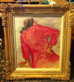 Gorman Clarita Original Oil Pastel Signed Painting