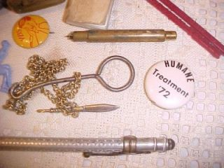 Vintage Misc. Group from Junk Drawer Whistle Metal Pencil Pin Backs