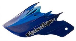 Troy Lee Designs D2 Visor   Beta Blue Composite
