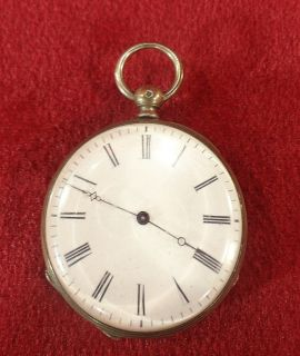 Antique Cylindre Huit Rubis Pocket watch